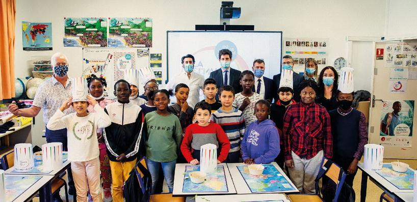 La visite du ministre de l'Agriculture et de l'Alimentation dans une école de Clichy-sous-Bois photos©Semaine du Goût